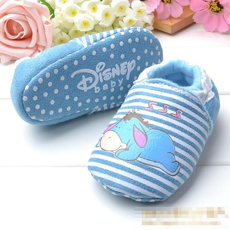 รองเท้าเด็กลาน้อย Disney สีฟ้า (6 คู่/pack)