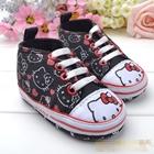 รองเท้าผ้าใบเด็ก-Hello-Kitty-สีดำ-(6-คู่/pack)