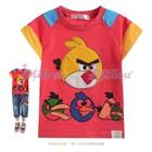 เสื้อยืดแขนสั้น-Angry-Bird-สีชมพู--(5size/pack)