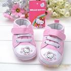 รองเท้าผ้าใบเด็กปักแมวเหมียว-สีชมพู-(6-คู่/pack)