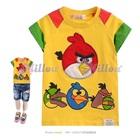เสื้อยืดแขนสั้น-Angry-Bird-สีเหลือง--(5size/pack)