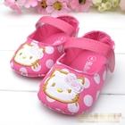 รองเท้าเด็กลายจุด-Hello-Kitty-สีชมพู--(6-คู่/pack)