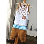 ชุดเสื้อและกางเกงแมวเหมียว-สีเหลือง-(5-ตัว/pack)