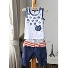 ชุดเสื้อและกางเกงแมวเหมียว-สีฟ้า-(5-ตัว/pack)