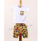ชุดเสื้อและกางเกงไดโนเสาร์-สีเหลือง-(5-ตัว/pack)