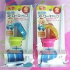 หลอดดูดน้ำพร้อมฝาปิด-คละสี-(10-อัน/pack)