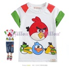 เสื้อยืดแขนสั้น-Angry-Bird-สีขาว--(5size/pack)