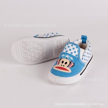 รองเท้าเด็ก Paul Frank ลายดาวสีฟ้า(5 คู่/แพ็ค)
