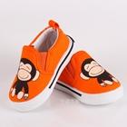 รองเท้าเด็กลายลิง-สีส้ม-(5-คู่/แพ็ค)
