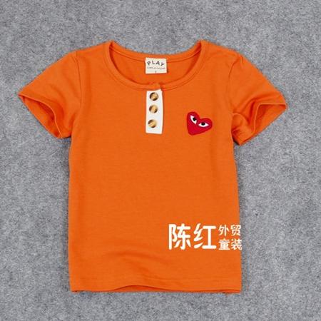 เสื้อยืดแขนสั้นสวีทฮาร์ท สีส้ม (5 ตัว/pack)