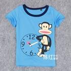 เสื้อยืดแขน-Paul-Frank-สีฟ้า-(4-ตัว/pack)