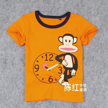 เสื้อยืดแขน Paul Frank สีส้ม (4 ตัว/pack)