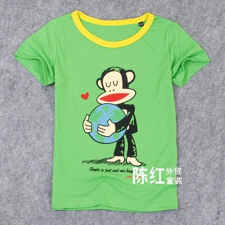 เสื้อยืดแขน Paul Frank กอดโลกสีเขียว (4 ตัว/pack)