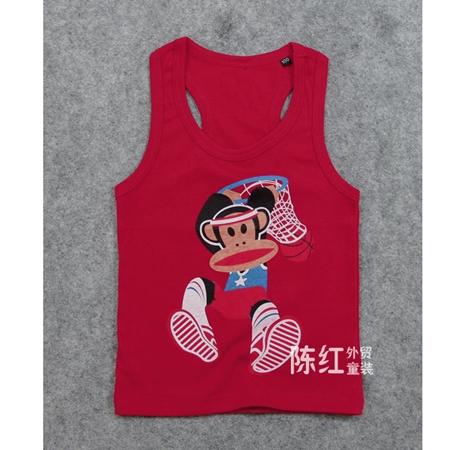 เสื้อกล้าม Paul Frank สีแดง (6 ตัว/pack)
