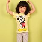 เสื้อยืด-Mickey-Mouse-สีเหลือง-(5size/pack)
