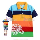 เสื้อโปโลแขนสั้นหลากสีสัน--(6size/pack)