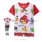 เสื้อยืดแขนสั้น-Angry-Bird-แขนสีแดง--(5size/pack)