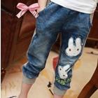 กางเกงยีนส์ขายาวกระต่ายน้อย-(5-ตัว/pack)
