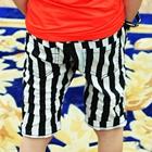 กางเกงขาสามส่วนลายทาง-สีดำ-(5-ตัว/pack)