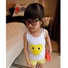 เสื้อกล้ามเด็กแฟชั่นลายหัวใจสีเหลือง-(5-ตัว/pack)