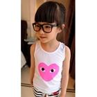 เสื้อกล้ามเด็กแฟชั่นลายหัวใจสีชมพู-(5-ตัว/pack)