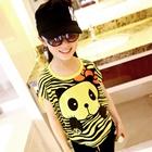 เสื้อแขนสั้นหมีแพนด้า-สีเหลือง-(5-ตัว/pack)