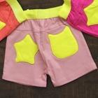 กางเกงขาสั้น-กระเป๋าดาว-สีชมพู-(5-ตัว/pack)