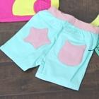 กางเกงขาสั้น-กระเป๋าดาว-สีฟ้า-(5-ตัว/pack)