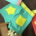 กางเกงขาสั้น-กระเป๋าดาว-สีเขียว-(5-ตัว/pack)