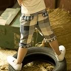 กางเกงขาสามส่วนลายตาราง-สีฟ้า-(5-ตัว/pack)