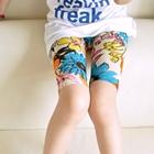 กางเกงเลกกิ้งขาสั้นลายดอกไม้-สีฟ้า-(5-ตัว-/pack)