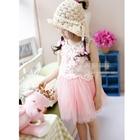 เดรสแขนกุดคุณหนูดอกไม้-สีชมพู-(5-ตัว/pack)