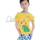 เสื้อยืดแขนสั้นไดโนเสาร์-สีเหลือง-(5size/pack)
