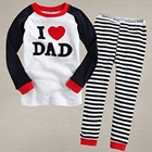 ชุดเสื้อและกางเกง-I-love-dad-สีกรม-(5-ตัว/pack)