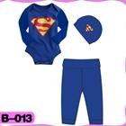 บอดี้สูท-Superman-สีน้ำเงิน-(4--ตัว/pack)