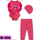 บอดี้สูท-Superman-สีชมพู-(4--ตัว/pack)