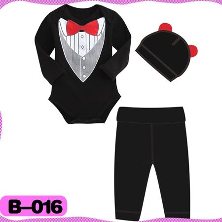 บอดี้สูท black gentleman สีดำ (4  ตัว/pack)