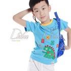 เสื้อยืดแขนสั้นไดโนเสาร์-สีฟ้า-(5size/pack)