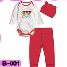 บอดี้สูท-I-love-mom-dad-สีขาวแดง-(4--ตัว/pack)
