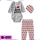 บอดี้สูท-I-love-mom-dad-สีเทา-(4--ตัว/pack)