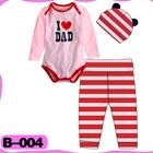 บอดี้สูท-I-love-dad-สีชมพู-(4--ตัว/pack)