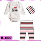 บอดี้สูท-I-love-mom-dad-สีขาวเทา-(4--ตัว/pack)