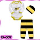 บอดี้สูทผึ้งน้อยน่ารัก-สีดำเหลือง--(4--ตัว/pack)