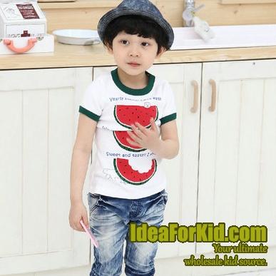 เสื้อยืด Watermelon สีขาว (5size/pack)