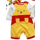 บอดี้สูทเด็กหมีพูลล์-สีเหลือง-(3--ตัว/pack)