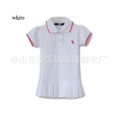 ชุดเดรสโปโล polo Sport Girl สีขาว (5 ตัว/pack)