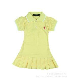 ชุดเดรสโปโล polo Sport Girl สีเหลือง(5 ตัว/pack)