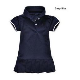 ชุดเดรสโปโล polo Sport Girl สีกรมเข้ม(5 ตัว/pack)