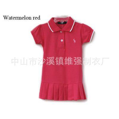 ชุดเดรสโปโล polo Sport Girl WaterMelon(5 ตัว/pack)