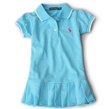 ชุดเดรสโปโล polo Sport Girl สีฟ้าเข้ม(5 ตัว/pack)